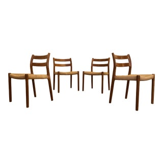 Niels Otto Møller for j.l. Møller Teak Dining Chairs, Model 84 - Set of 4 For Sale
