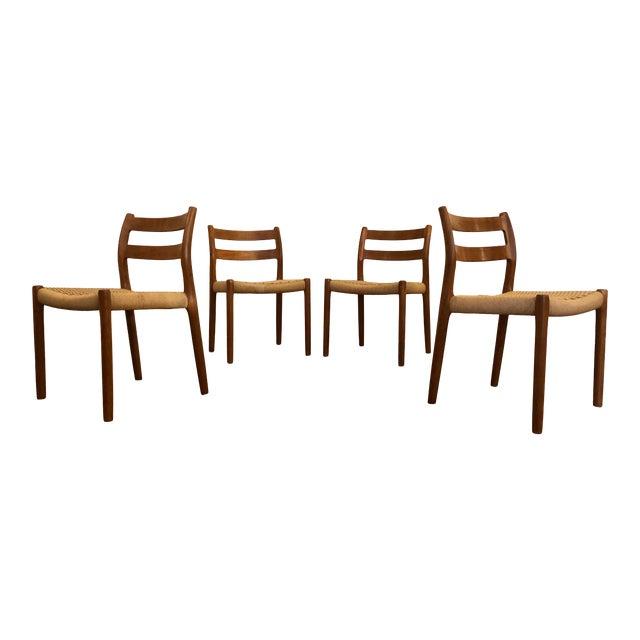 Niels Otto Møller for j.l. Møller Teak Dining Chairs, Model 84 - Set of 4 For Sale