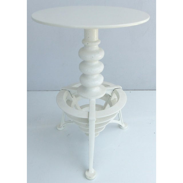 White Industrial Interchangeable Tables/Stools - A Pair For Sale - Image 8 of 10