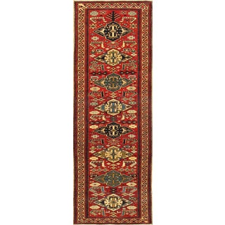 "Pasargad Kazak Collection Lamb's Wool Runner- 2' 6"" X 6' 8"" For Sale"