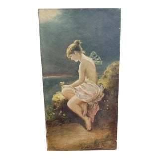"Circa 1870 After Wilhelm Kray ""Psyche"" Oil Painting (Germany) For Sale"