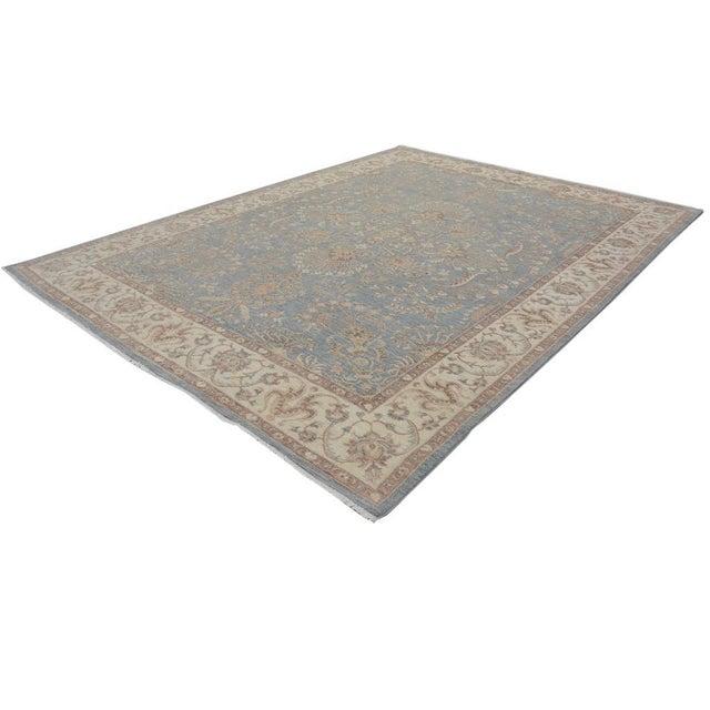 Textile Kafkaz Peshawar Carter Gray & Ivory Wool Rug - 8'10 X 11'8 For Sale - Image 7 of 7