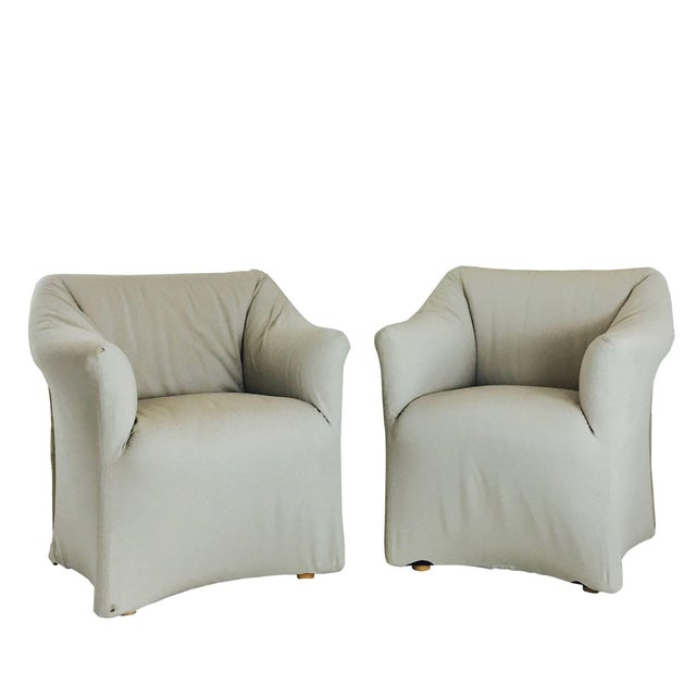 Late 20th Century Pair of Tentazione Lounge Chairs for Cassina by Mario Bellini For Sale - Image 5 of 5