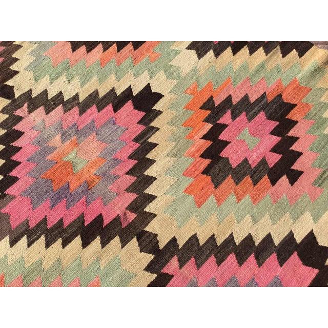 Diamond Design Kilim Rug For Sale - Image 4 of 9