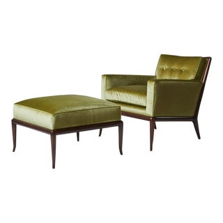 Th Robsjohn Gibbings Lounge Chair and Ottoman For Sale