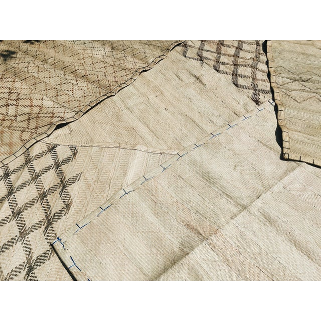 Americana Beige Ntato Mat 3 - 3′11″ × 7′3″ For Sale - Image 3 of 4