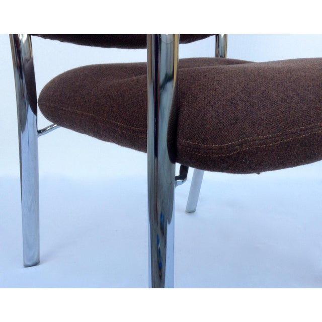 Mid-Century ChromCraft Chrome Arm Chair For Sale - Image 9 of 11