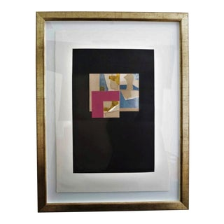 """Vintage 1973 Louise Nevelson """"Aquatint Iii"""" Pace Galleries Aquatint Etching and Collage Pencil Signed and Numbered 10 of 90 For Sale"""