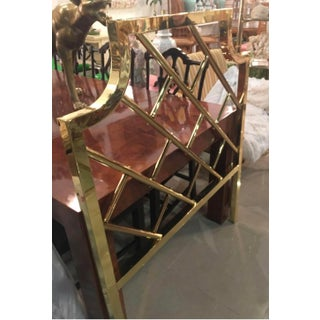 Vintage Chinese Chippendale Brass Twin Size Headboard Preview