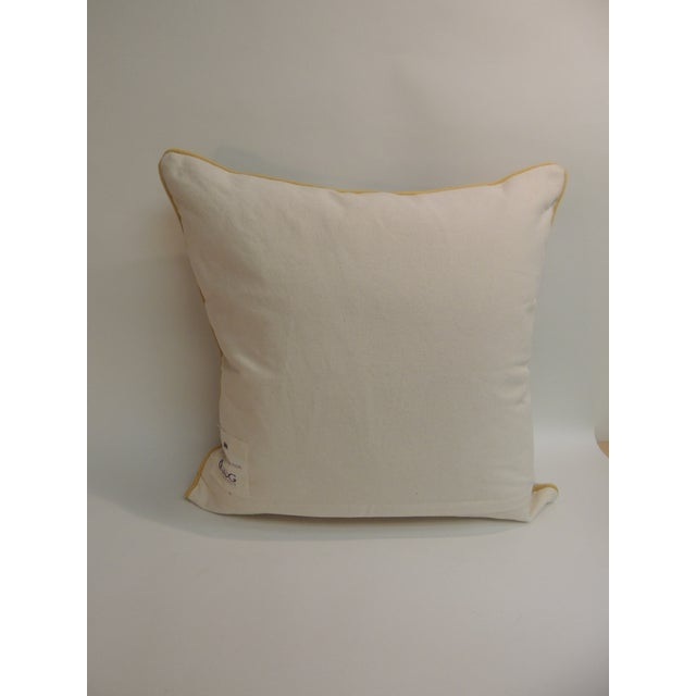 "Large Rug Company Suzani Style ""K"" Embroidery Pillow - Image 4 of 6"