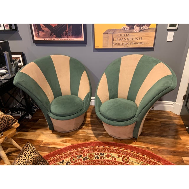 Vladimir Kagan for Weiman Vintage 20th Century Swivel Chairs - a Pair For Sale - Image 11 of 12