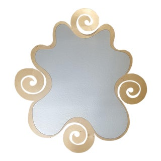 Contemporary Gold Swirl Mirror