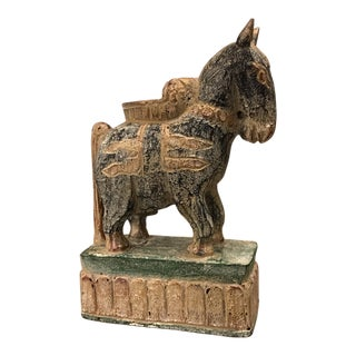 Wood Horse Candle Holder