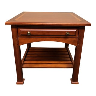 Transitional Drexel Heritage Bungalow Collection Side Table For Sale