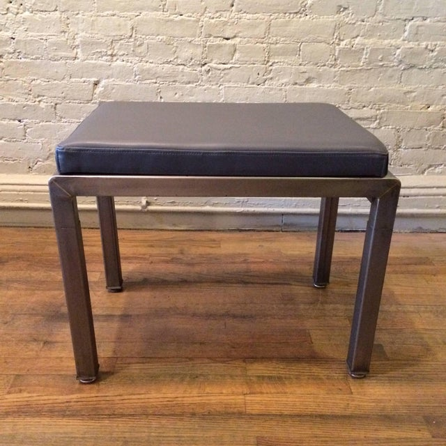 Art Deco 1930s Vintage Norman Bel Geddes for Simmons Art Deco Ottomans- A Pair For Sale - Image 3 of 9