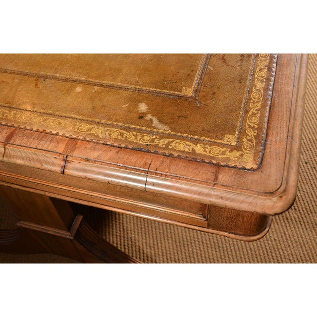 18th Century 19th Century Georgian Revival Partner's Library Table For Sale - Image 5 of 8