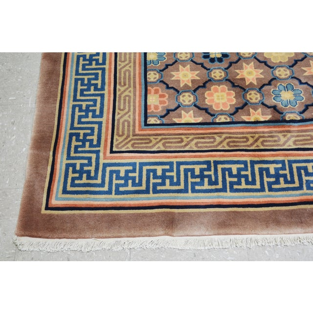"""Early 21st Century Antique Chinese Rug,8'x10'1"""" For Sale - Image 5 of 7"""