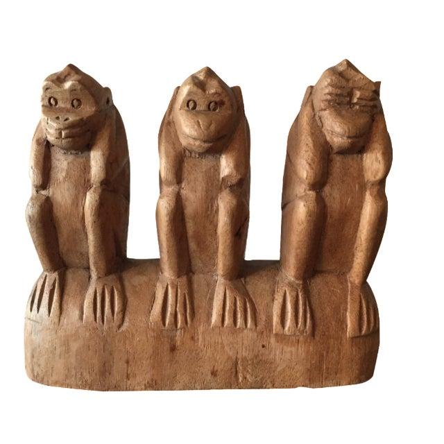 No See, Hear, Speak Evil Monkeys Carving - Image 1 of 7