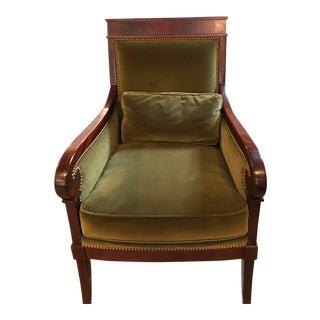 Modern Kravet French Empire Lounge Chair For Sale