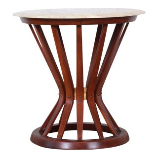 Edward Wormley for Dunbar Sheaf of Wheat Marble Top Side Table, 1950s For Sale