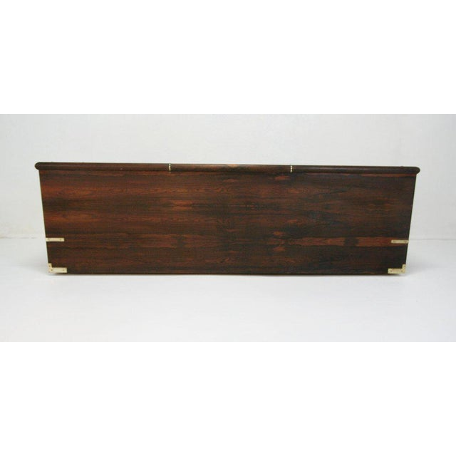 1970 Original Marge Carson Campaign Rosewood Sofa Daybed For Sale In Tampa - Image 6 of 7