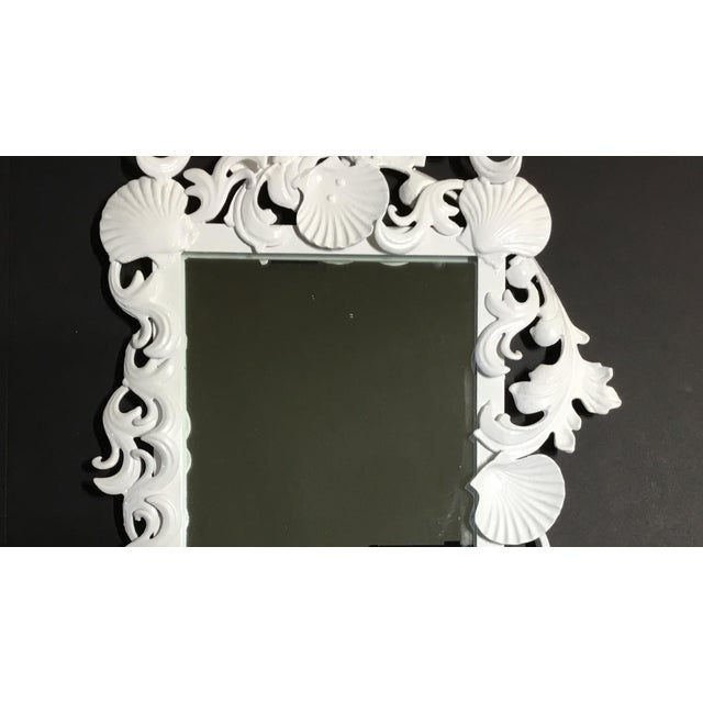 White Sea Shell Mirrors - a Pair For Sale - Image 4 of 13