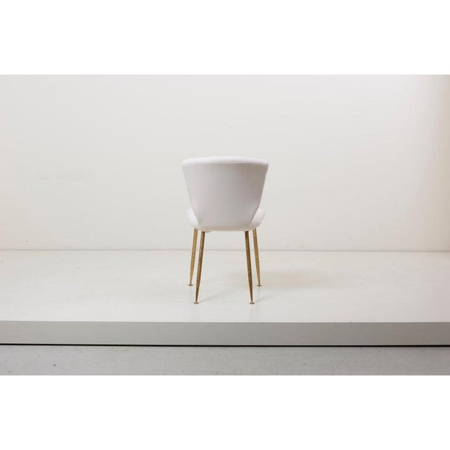 Mid-Century Modern Set of 10 Brass Leg Dining Chairs by Louis Sognot for Arflex, Italy, 1959 For Sale - Image 3 of 9