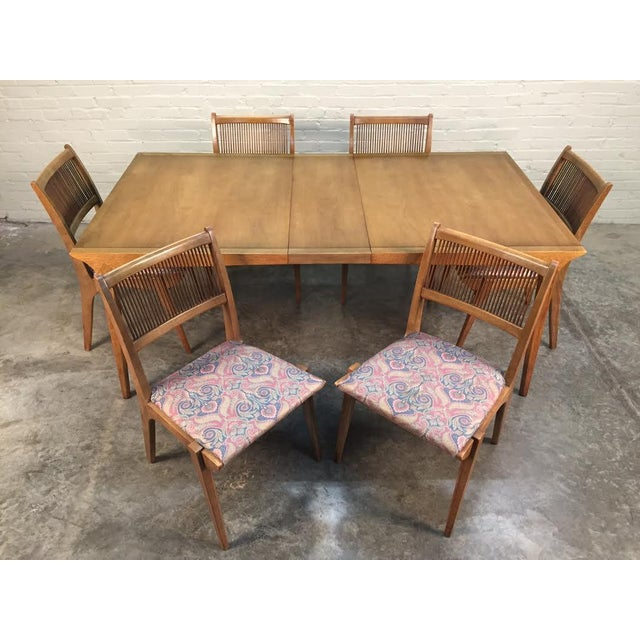 John Van Koert for Drexel Dining Set With Six Chairs - Image 2 of 11
