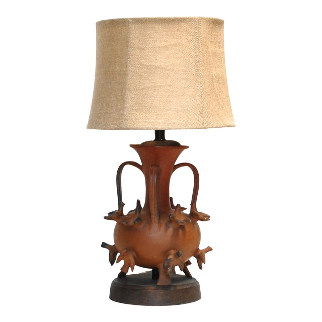 1950s Mexican Ceramic Lamp - Image 1 of 6