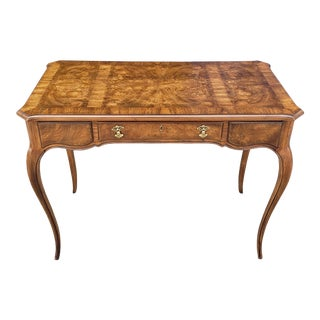 "Vintage Drexel ""Et Cetera"" Burlwood Writing Desk For Sale"