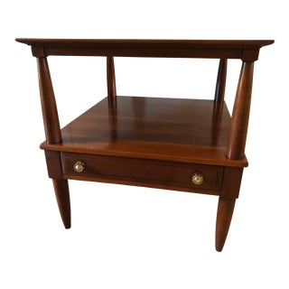 """""""Transitional Cherry Collection"""" Willett Mid-Century Modern End Table For Sale"""