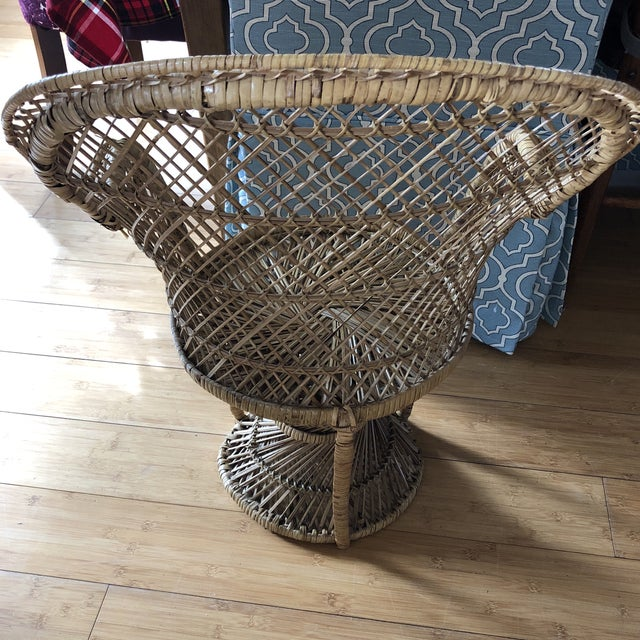 1970s 1970s Vintage Children's Peacock Chair For Sale - Image 5 of 10
