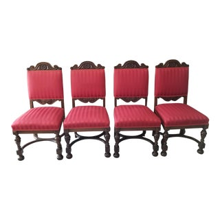 Antique Dining Room Chairs - Set of 6 For Sale