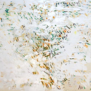 Large Abstract Paint and Pastel by Nyc Artist Edith Isaac-Rose For Sale