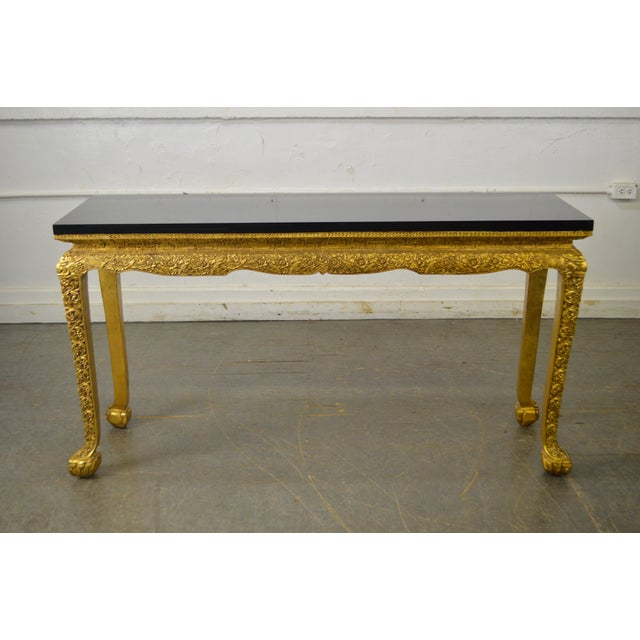 Paint Georgian Style Carved Gilt Console Table by Manheim Weitz For Sale - Image 7 of 13