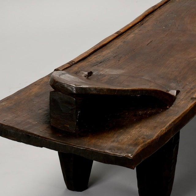 Ivory Coast Dark Wood Senufo Bench - Image 7 of 11