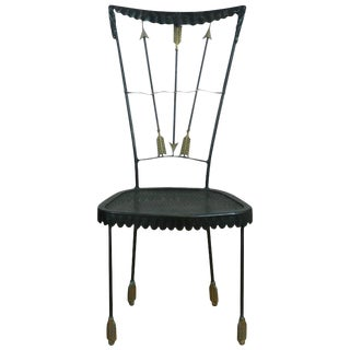 1950s Tomaso Buzzi Surrealist Arrow Motif Chair For Sale