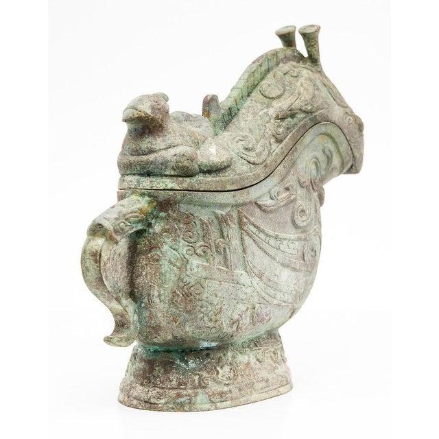 Lawrence and Scott, Inc Lawrence & Scott Large Verdigris Bronze Snail Box For Sale - Image 4 of 10