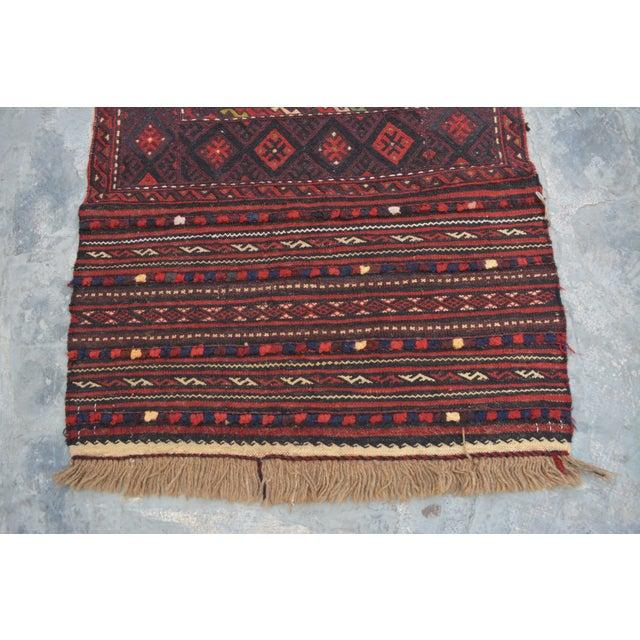 "Afghan Afghan Soumak Tribal Kilim Runner-2'3'x9'11"" For Sale - Image 3 of 11"