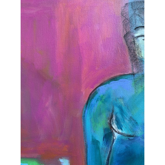 """2010s Contemporary Figurative Painting by Robin Okun Art, """"Over Here"""" For Sale - Image 5 of 11"""