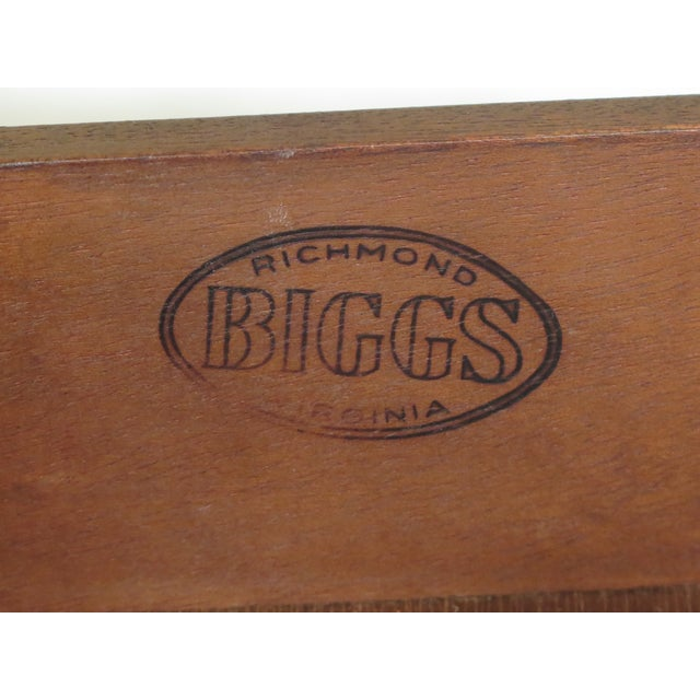 Biggs Ball & Claw Chippendale Mahogany Lowboy For Sale - Image 11 of 12