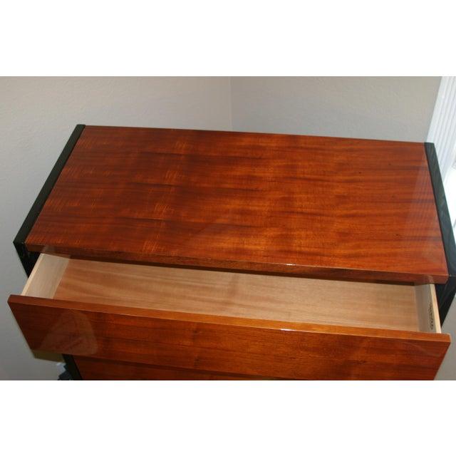 Henredon Black Lacquer & Koa Wood Dressers - A Pair - Image 7 of 11