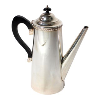 Vintage Crafton Sheffield England Sterling Silver Coffee or Tea Pot For Sale
