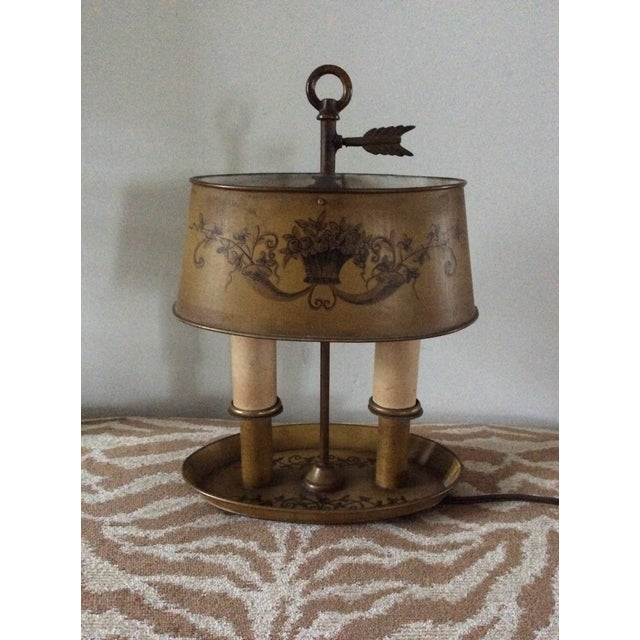 1940s Vintage French Tole Bouillotte Desk Lamp For Sale - Image 4 of 12