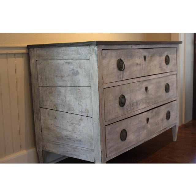 Swedish Style Painted Pine Chest of Drawers For Sale - Image 4 of 7