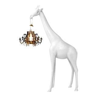 White Giraffe in Love Xs Chandelier by Marcantonio For Sale