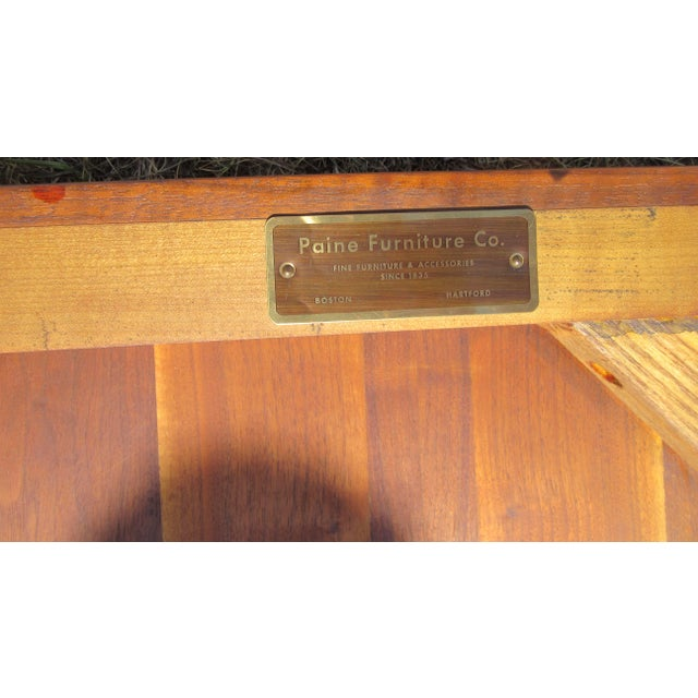 Circa 1960's Mid-Century modern solid teak sofa/ hall table. Table has Paine's furniture label. Paine's Furniture was a...
