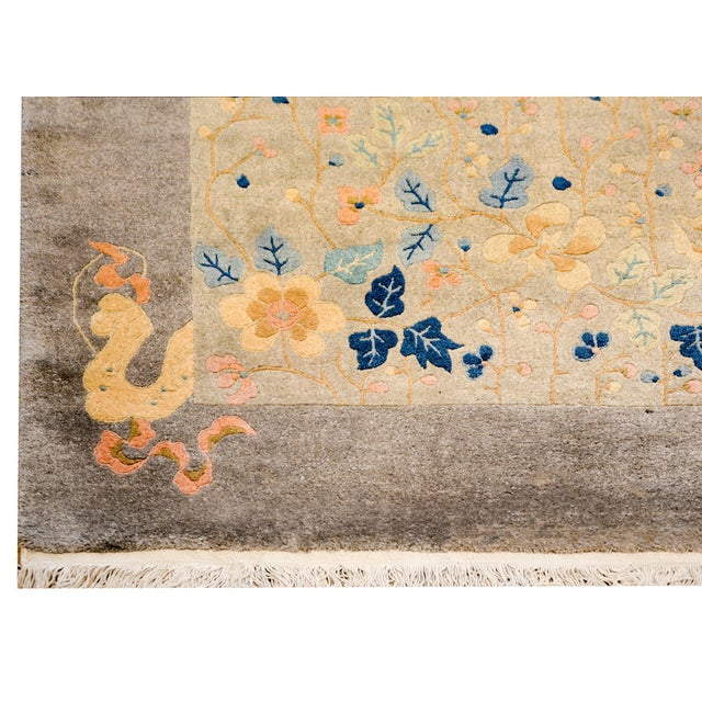 Textile Serene Chinese Art Deco Rug For Sale - Image 7 of 9