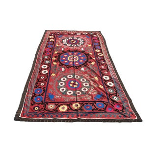 Antique Handmade Suzani Tapestry For Sale