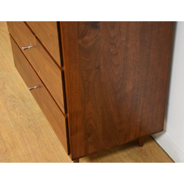 1950s 1950s Mid-Century Modern Solid Walnut Lingerie Chest For Sale - Image 5 of 10